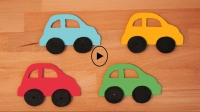 Wooden car pattern