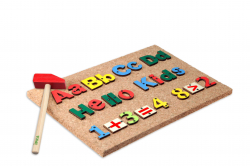 Hammer and pin Toy English Alphabets & Number