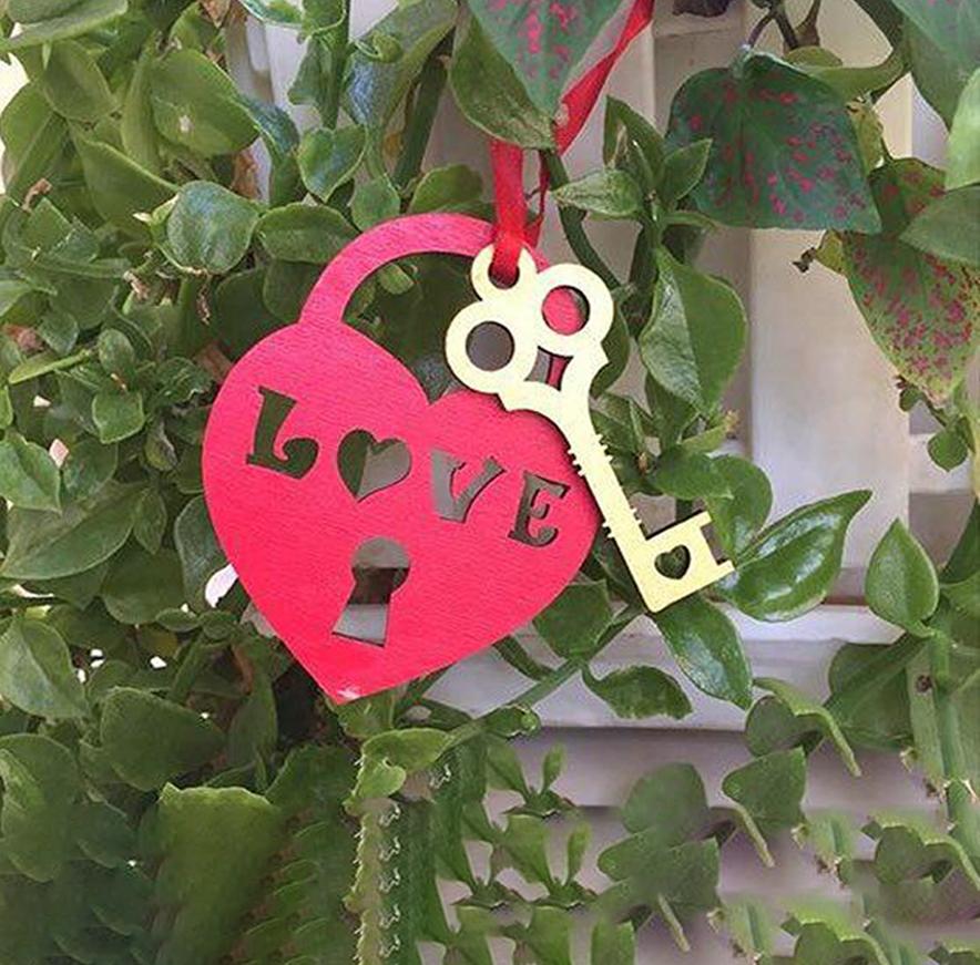 قلب و کلید چوبی 1